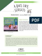 A Bike Like Sergio's Teachers' Guide
