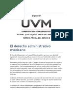 El Derecho Administrativo Mexicano