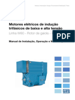 WEG Motores de Inducao Trifasico Linha w60 12720793 Manual Portugues Br