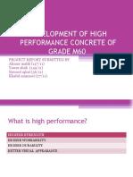 DEVELOPMENT OF HIGH PERFORMANCE CONCRETE OF GRADE M60.pptx.ppt