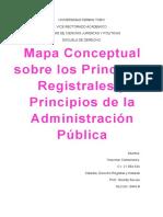 Mapa Conceptual Sobre Los Principios Registrales y Principios de La Administracion Publica