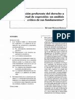 LA POSICIÓN PREFERENTE DEL DERECHO DE LIBERTAD DE EXPRESIÓN.pdf