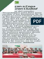 05-08-16 Convocan a Copa de La Gran Ciudad