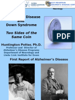 Two Sides of the Same Coin—Alzheimer's and Down Syndrome