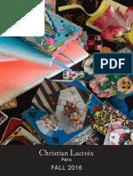 Christian Lacroix Fall 2016 Catalog