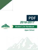 Upper School Student Life Handbook 2016-2017