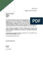 Carta de Presentación Practicas Profesionales