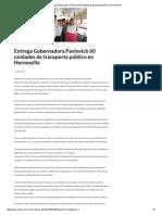 02-08-16 Entrega Gobernadora Pavlovich 60 unidades de transporte público en Hermosillo. -Critica
