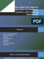 Ankur Mahajan Final Ppt Learning Disability