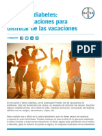 Jovenes Diabetes Vacaciones