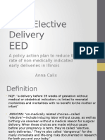 early elective delivery ppt - calix