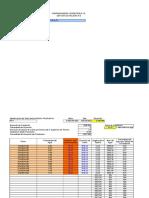 Tabla de Cálculo de Piezometros
