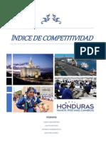 INDICE DE COMPETITIVIDAD - HONDURAS