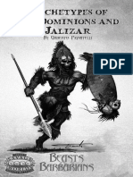 Beasts and Barbarians Archetypes of the Dominions and Jalizar