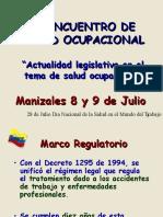 Actualidad Legislativa en El Tema de Salud Ocupacional - Dr