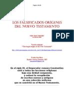 Los Falsificados Orígenes Del Nuevo Testamento