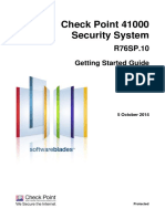 CP R76SP.10 for 41000 Security System Getting Started Guide