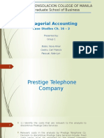 Prestige Telephone Company Case Study Report Unedited