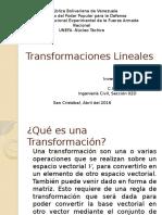 Transformaciones Lineales(Algebra)