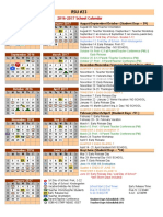 rsu 23 2016-2017 approved calendar rsu 23