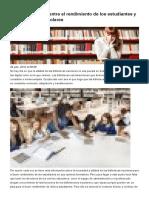 La Fuerte Relación Entre El Rendimiento de Los Estudiantes y Las Bibliotecas Escolares
