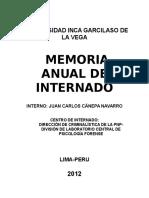 Memoria-Internado en Psicologia Forense