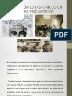 Antecedentes Historicos en Enfermeria Psiquiatríca