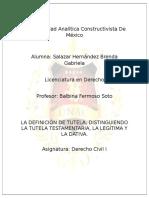 Derecho Civil Definicion de la tutela
