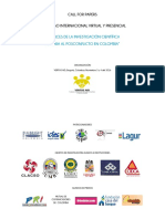 Congreso Intnal Avances de La Investigación Cientifica Posconflicto Colombia