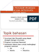 Kebijakan Program Imunisasi
