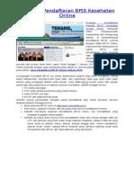 Panduan Pendaftaran BPJS Kesehatan Online