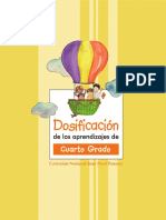Dosificacion Aprendizaje 4to Grado