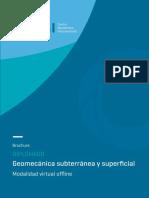 Brochure Diplomado de Geomecanica y Geotecnia