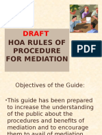 Draft HOA Rules of Procedure on Mediation