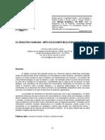 CLONACIÓN HUMANA . IMPLICACIONES BIOLÓGICAS Y ÉTICAS.pdf