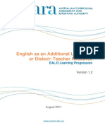 eald resource - eald learning progression