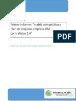 Informe Preliminar Plan de Mejoras