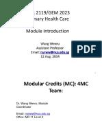 NUS NUR2119/GEM2023 Module Introduction notes week 1