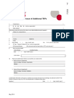 Additional TRF Request Form