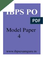 27129_ibps Po Moel Paper 4