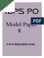 45401_IBPS PO Model Paper 8