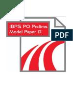 64462_IBPS PO Model Paper 12