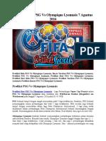Prediksi Bola PSG Vs Olympique Lyonnais 7 Agustus 2016