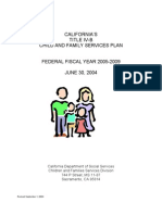 California Title IV-B Child and Family Services Plan with Unallowable Title IV-E Training Costs