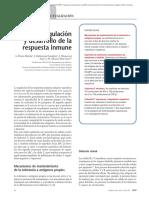 Regulación y Desarrollo de La Respuesta Inmune