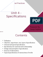 Unit 4 Specifications