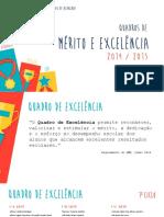Quadros de Mérito e Excelência 2014/2015