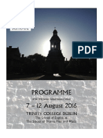 2016 SBSS Programme