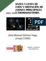 Corrientes y Leyes de Conservación y Obtención de Las Ecuaciones Principales Del Electromagnetismo.