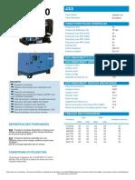 Fiche Technique Complete SDMO J33